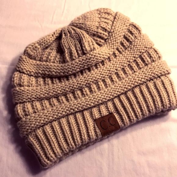 cc2991eac31 C.C Women s Thick Slouchy Knit Beanie Hat Beige. M 5a659228d39ca2ada209906c